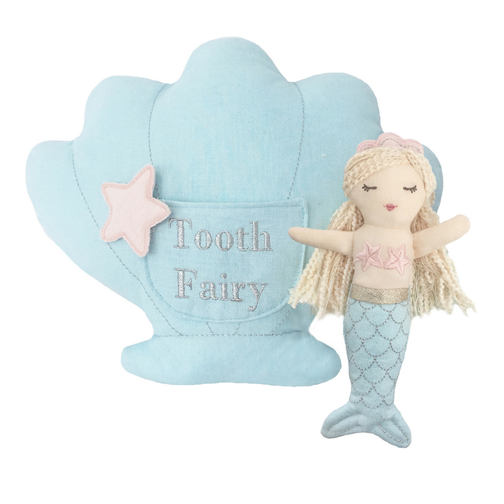 Mimi Mermaid Tooth Fairy Pillow & Doll Set