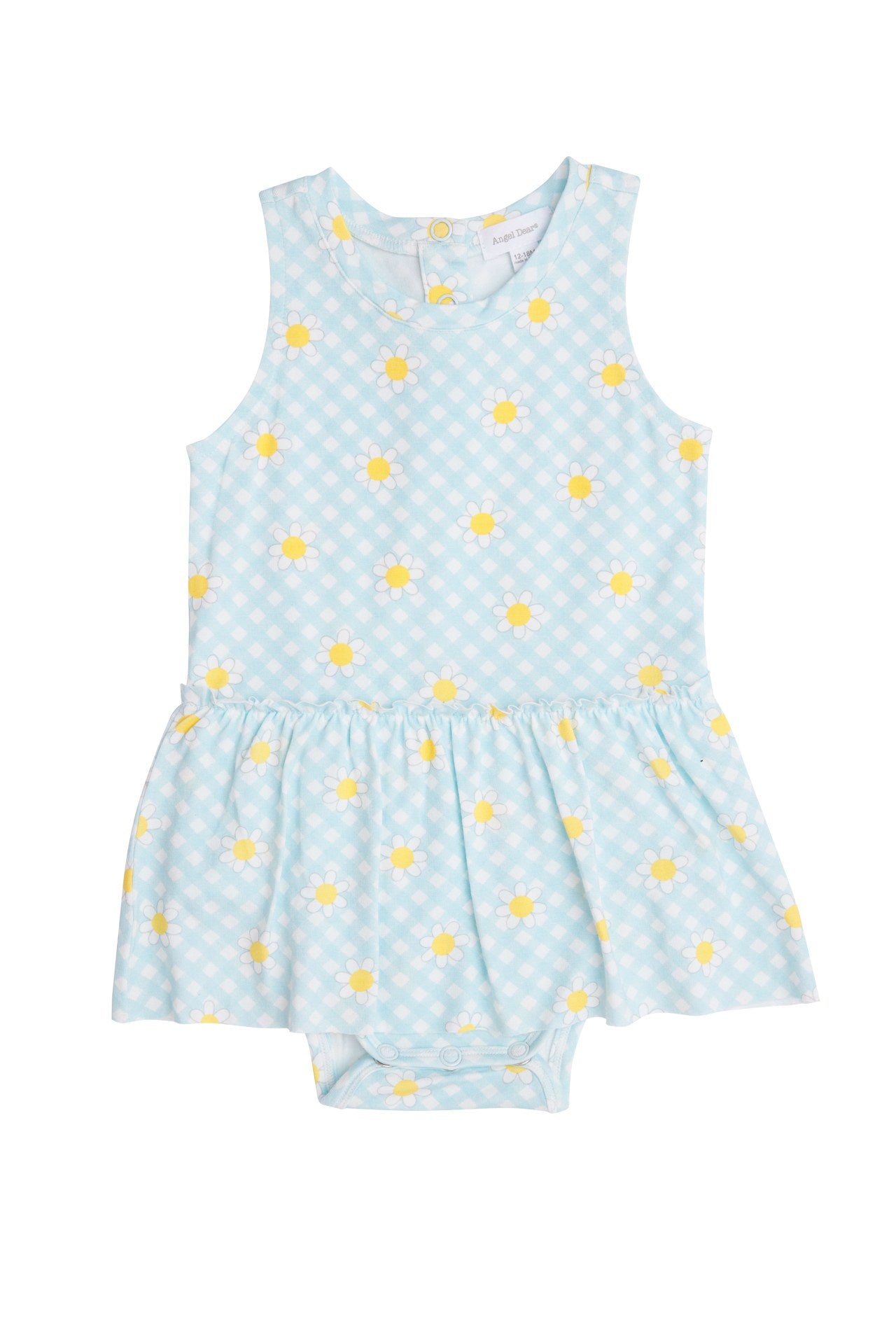 Gingham Daisy Bodysuit with Skirt