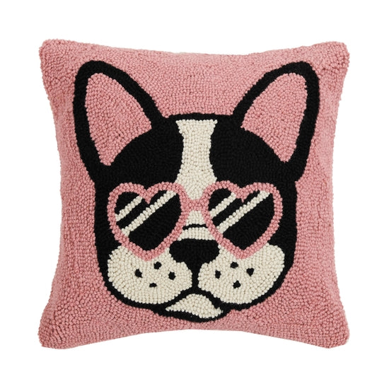 Pink Cool French Bulldog Pillow