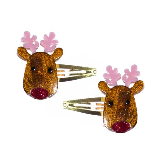 Lillies and Roses Santa's Reindeer Snap Clips