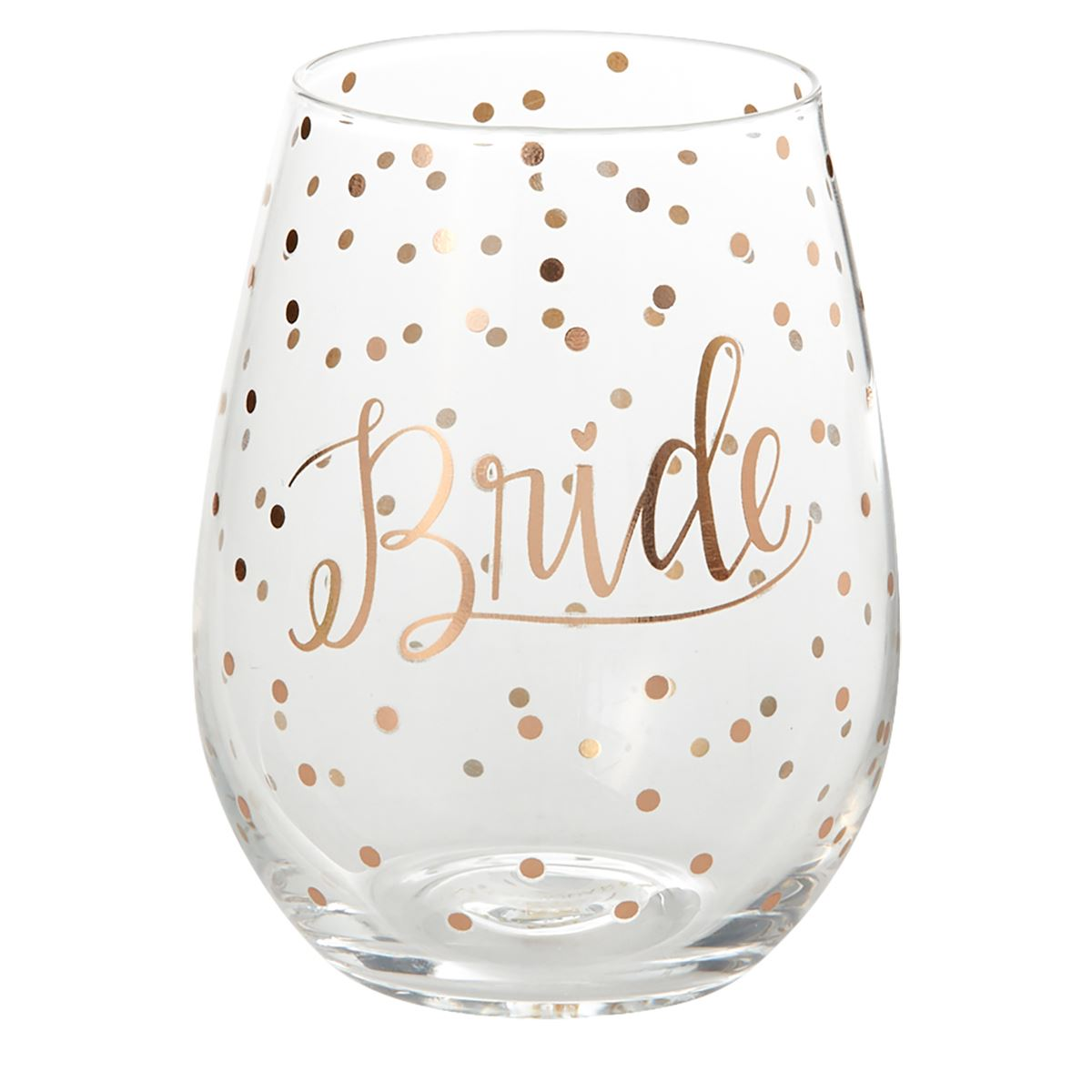 Mary Square Bride Polka Dot Wine Glass