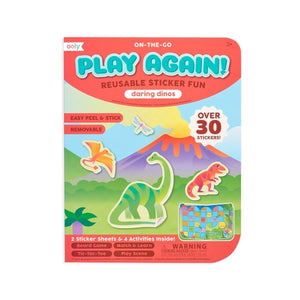 Ooly Play Again Reusable Sticker Fun Daring Dinos
