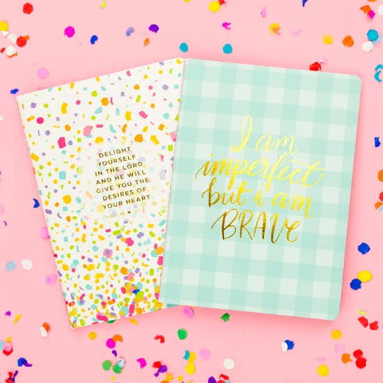 Taylor Elliot Confetti Prayer Notebook Set of 2
