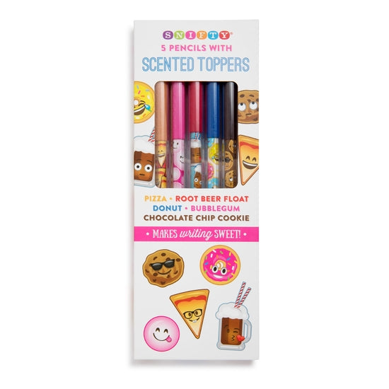 Junk Food Scented Pencil Toppers 5 Pack