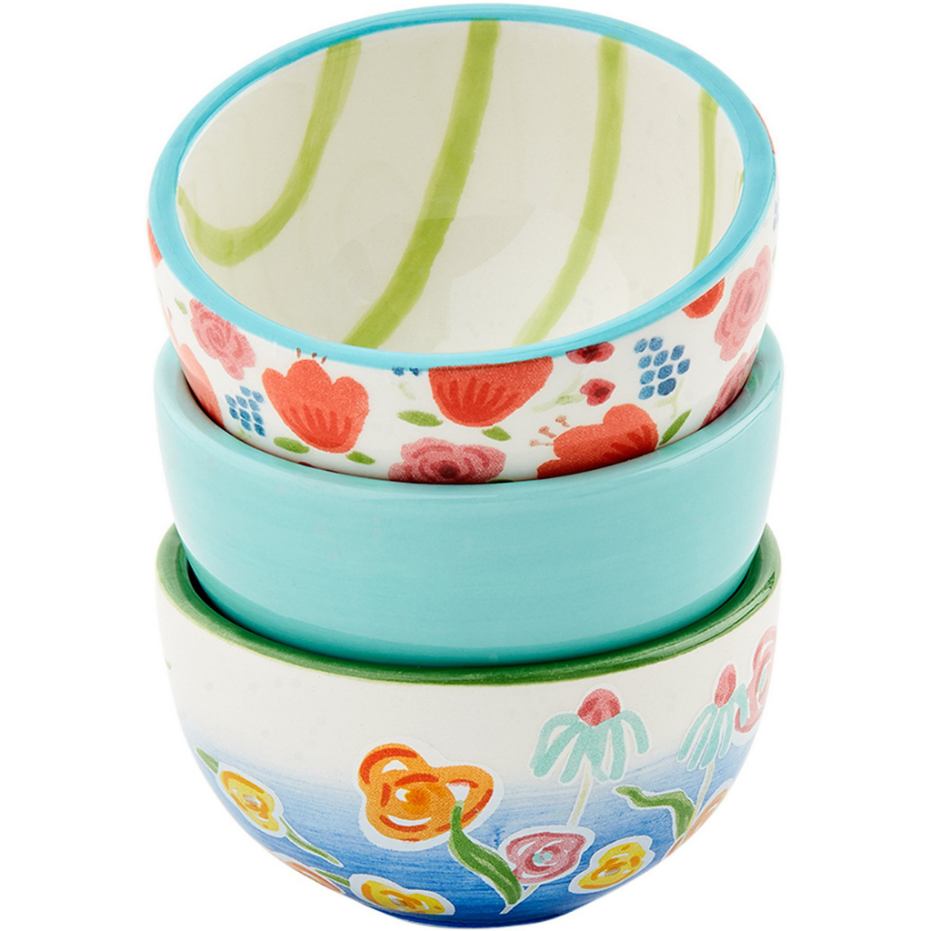 Blue Floral Ramekin Set