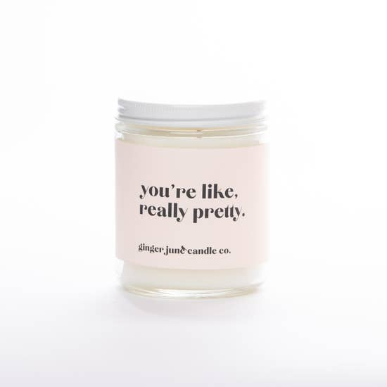 Ginger June Candle-You're Like Really Pretty-Gardenia Honeysuckle