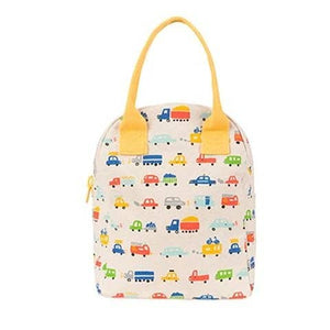 Fluf Zipper Lunch Bag Cars