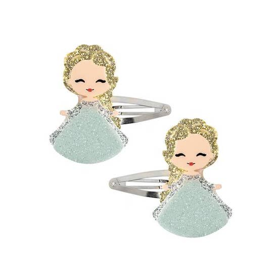 Lillies and Roses Elsa Doll Hair Clip