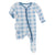 Kickee Ruffle Footie with Zipper Blue Moon Holiday Plaid