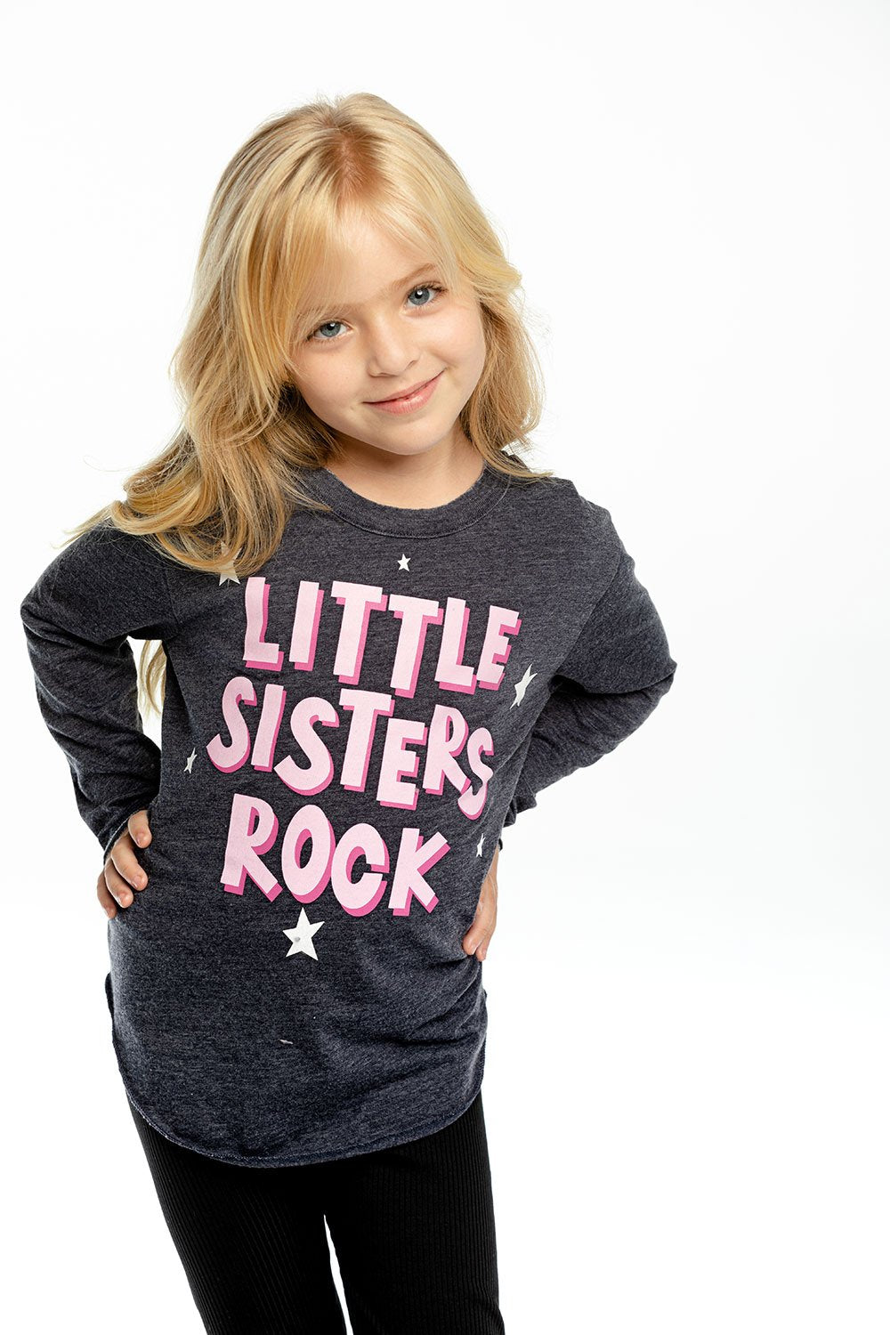 Chaser Little Sisters Rock L/S Vintage Tee