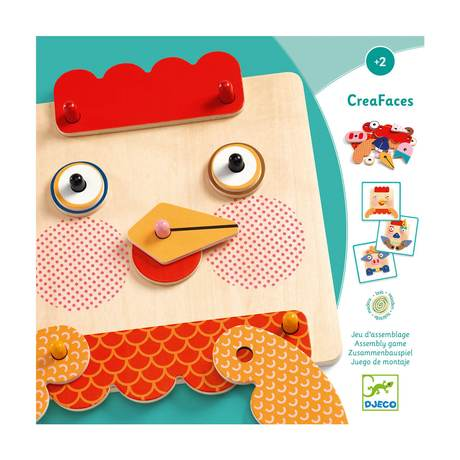 Djeco Early Learning Creafaces