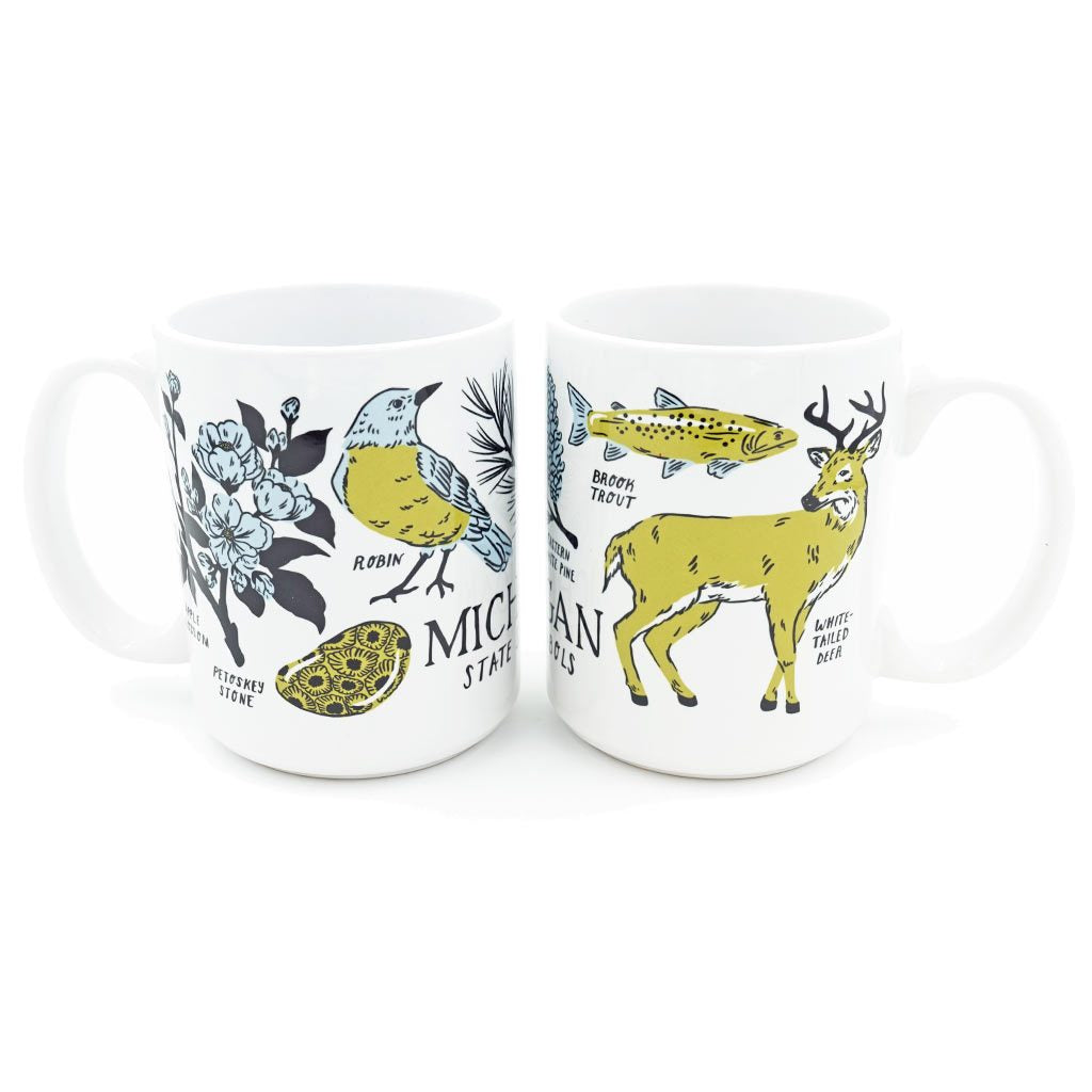 Michigan Symbols Mug