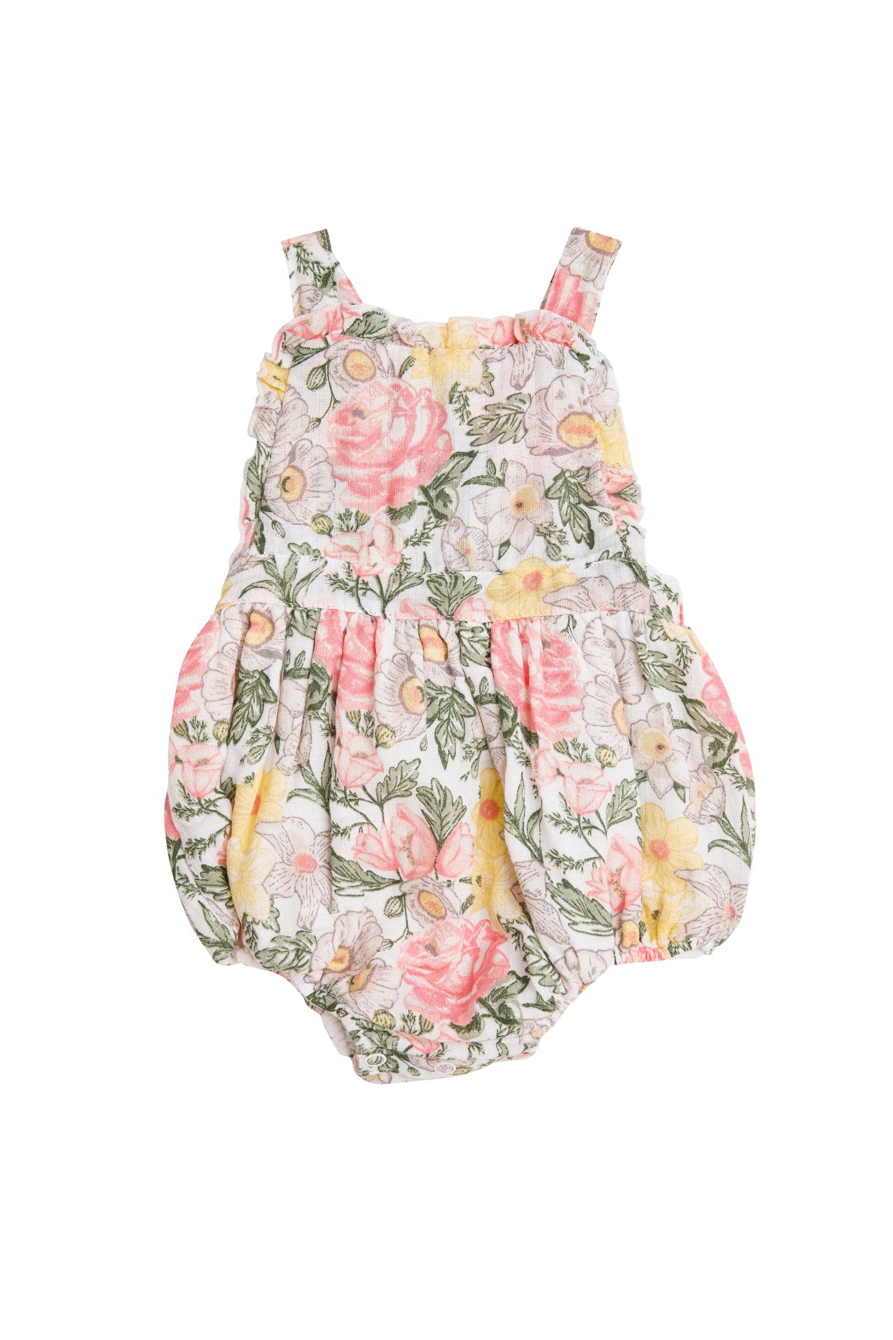 Traditional Floral Ruffle Bib Bubble