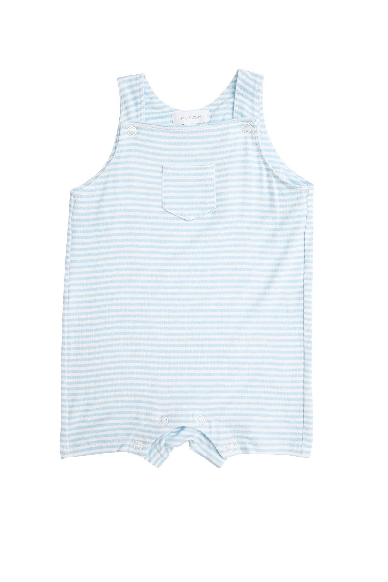 Angel Dear Stripe Blue Overall Shortie