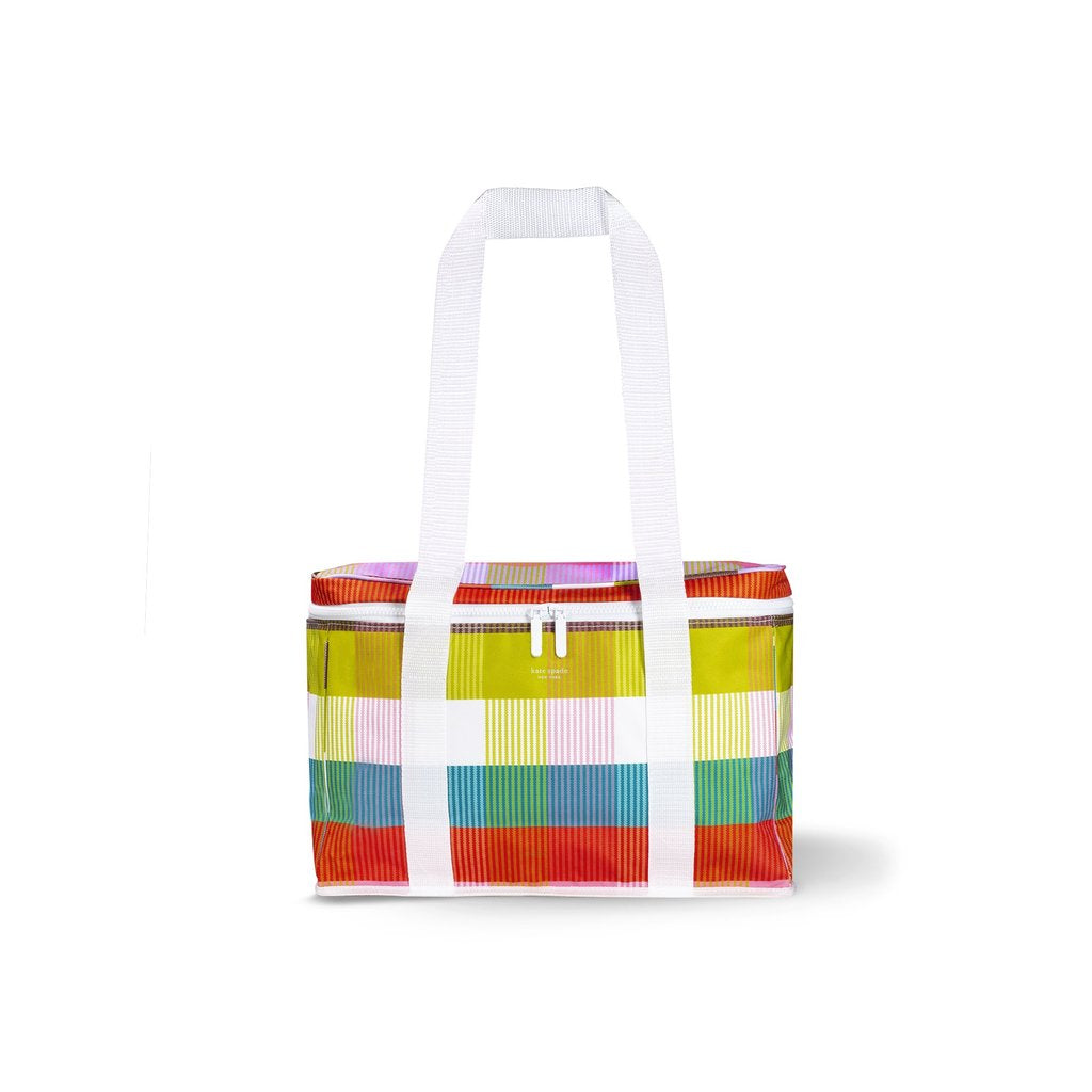 Kate Spade New Yorker Cooler Bag-Rainbow Plaid