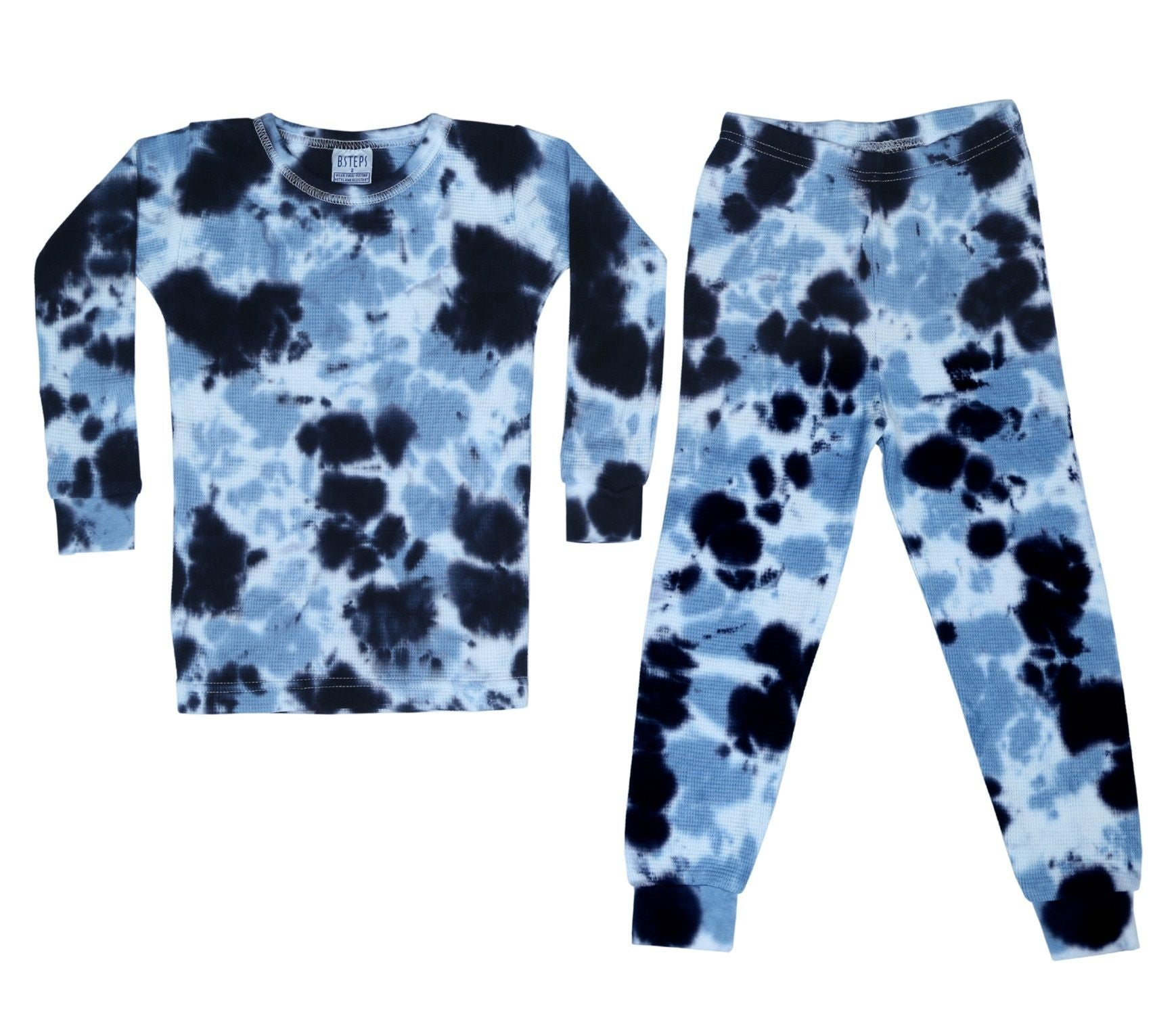 Baby Steps Tie Dye Thermal Pajamas-Assorted Colors
