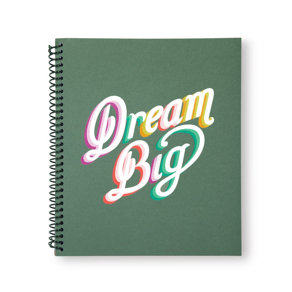 Kate Spade Large Spiral Notebook Dream Big