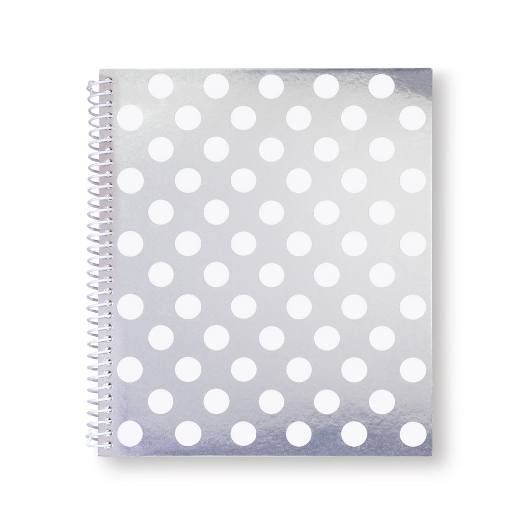 Kate Spade Large Spiral Notebook Whitedot