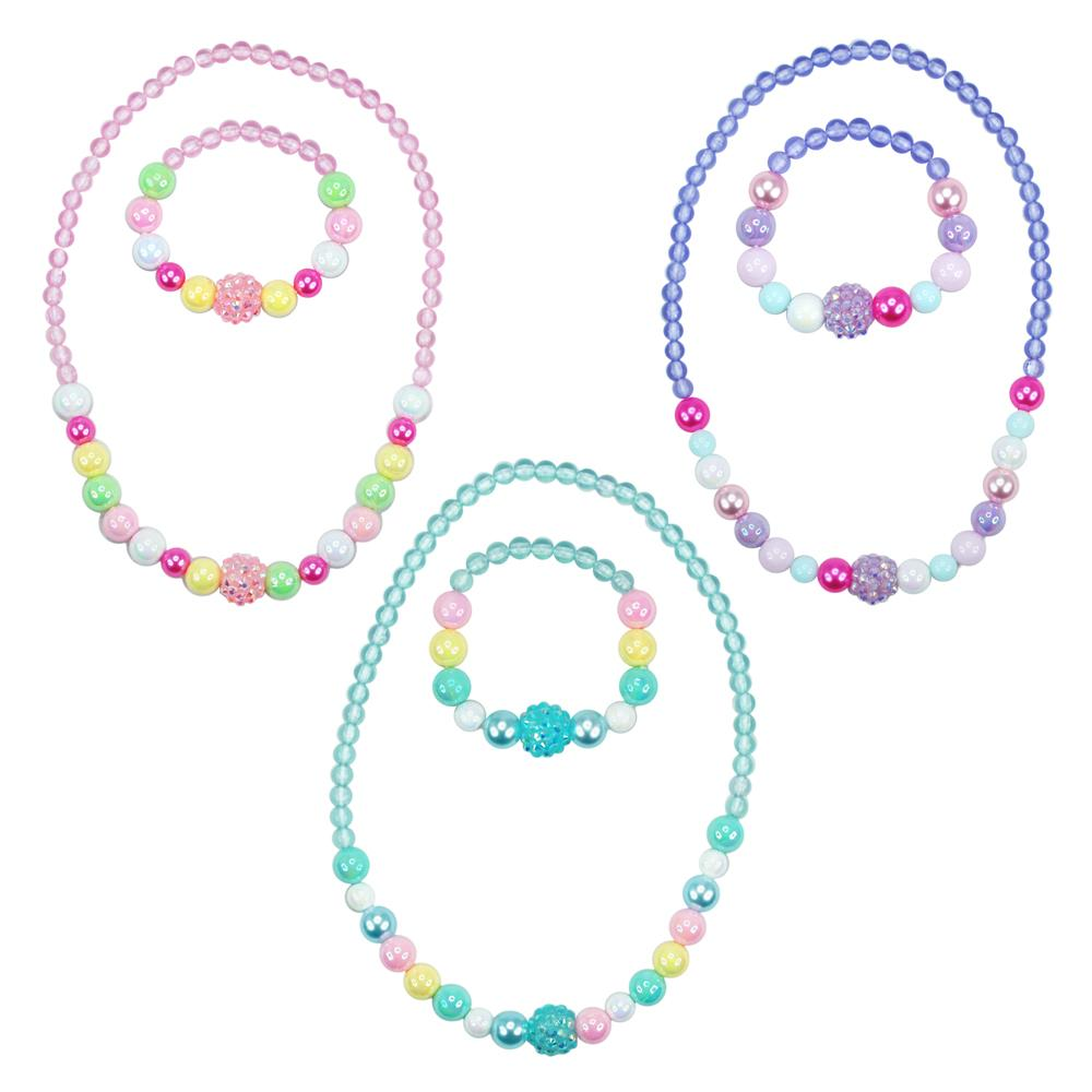 Pink Poppy Pastel Dream Necklace and Bracelet Set