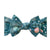 Baby Bling Christmas Printed Knot Bow