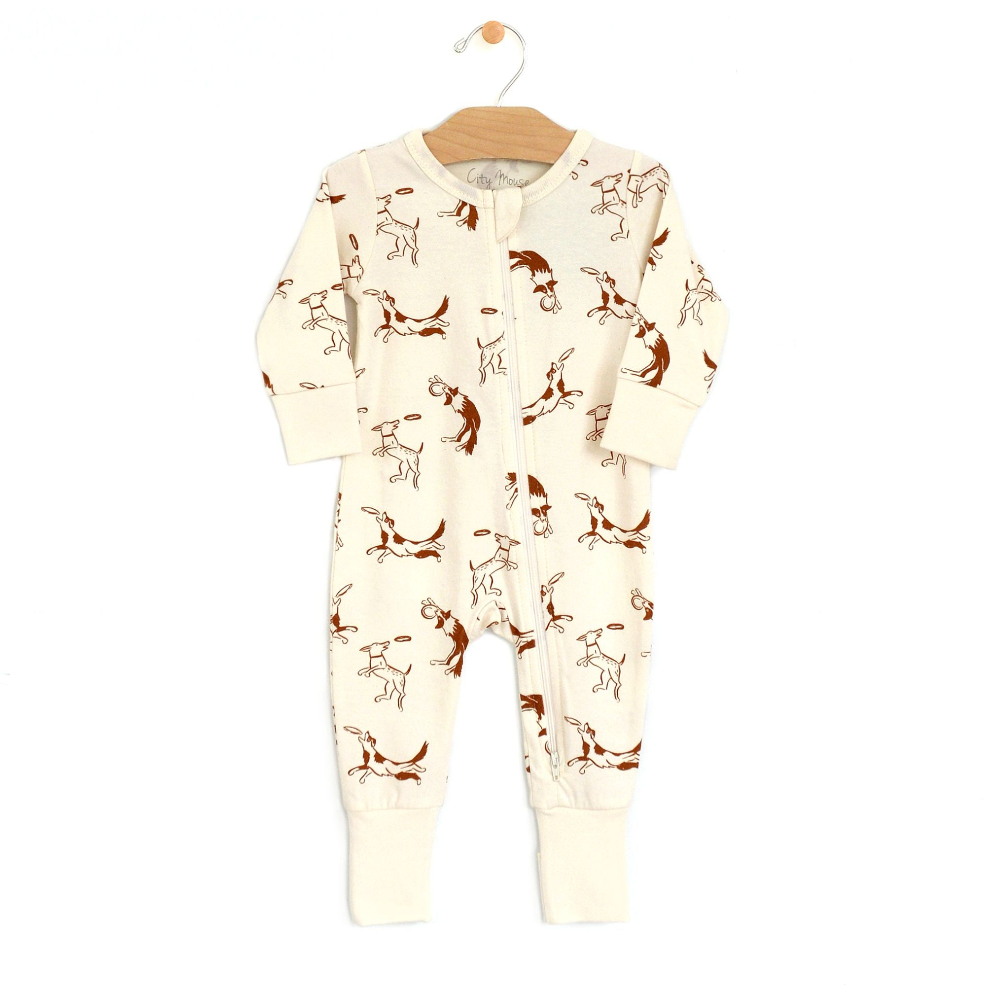 City Mouse Jersey Zip Romper