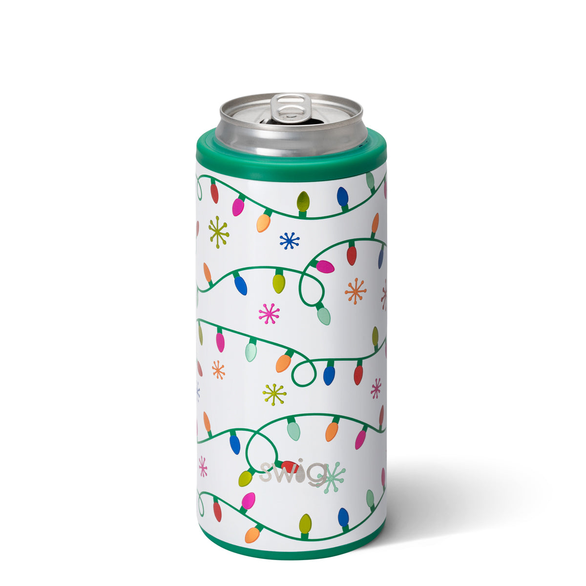 Swig 12oz Skinny Can Cooler Let it Glow