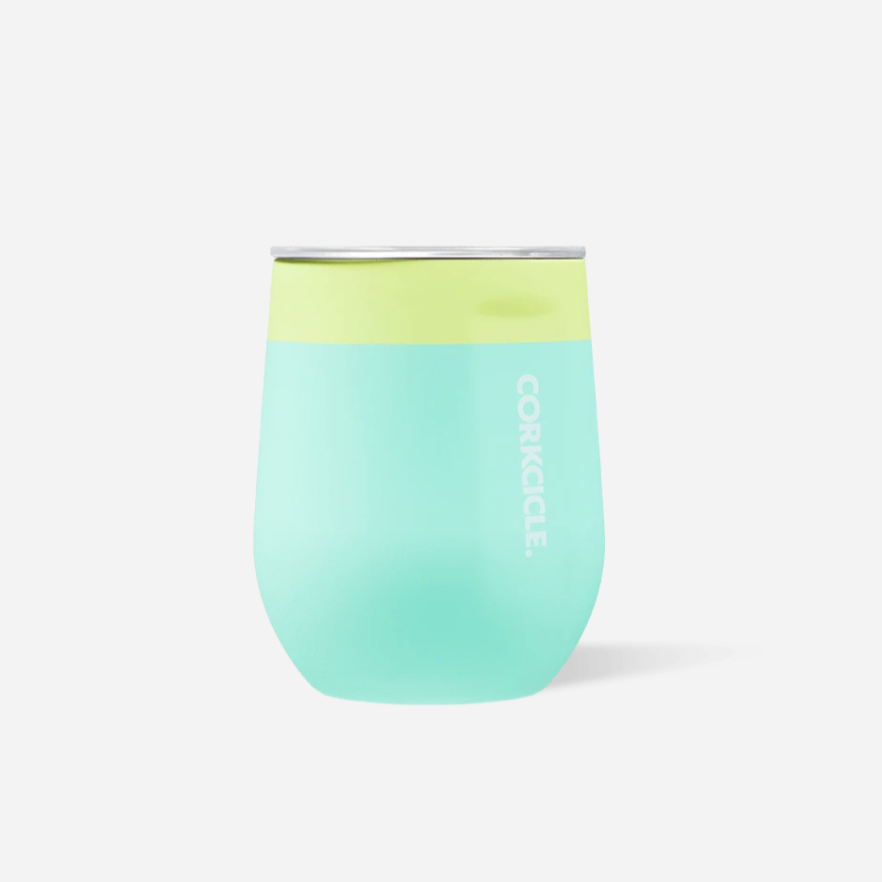 Corkcicle Color Block Stemless-Limeade