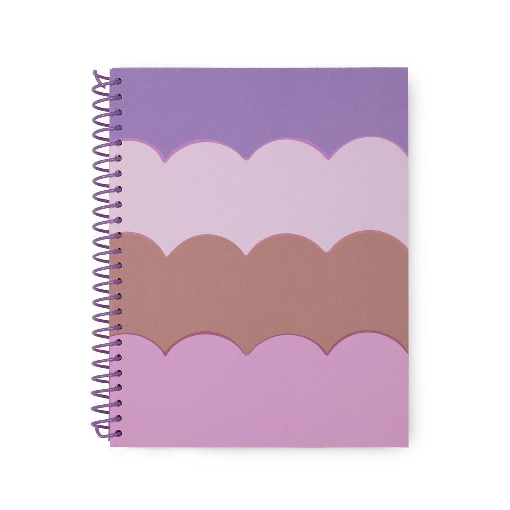 Kate Spade Small Spiral Notebook-Scallop