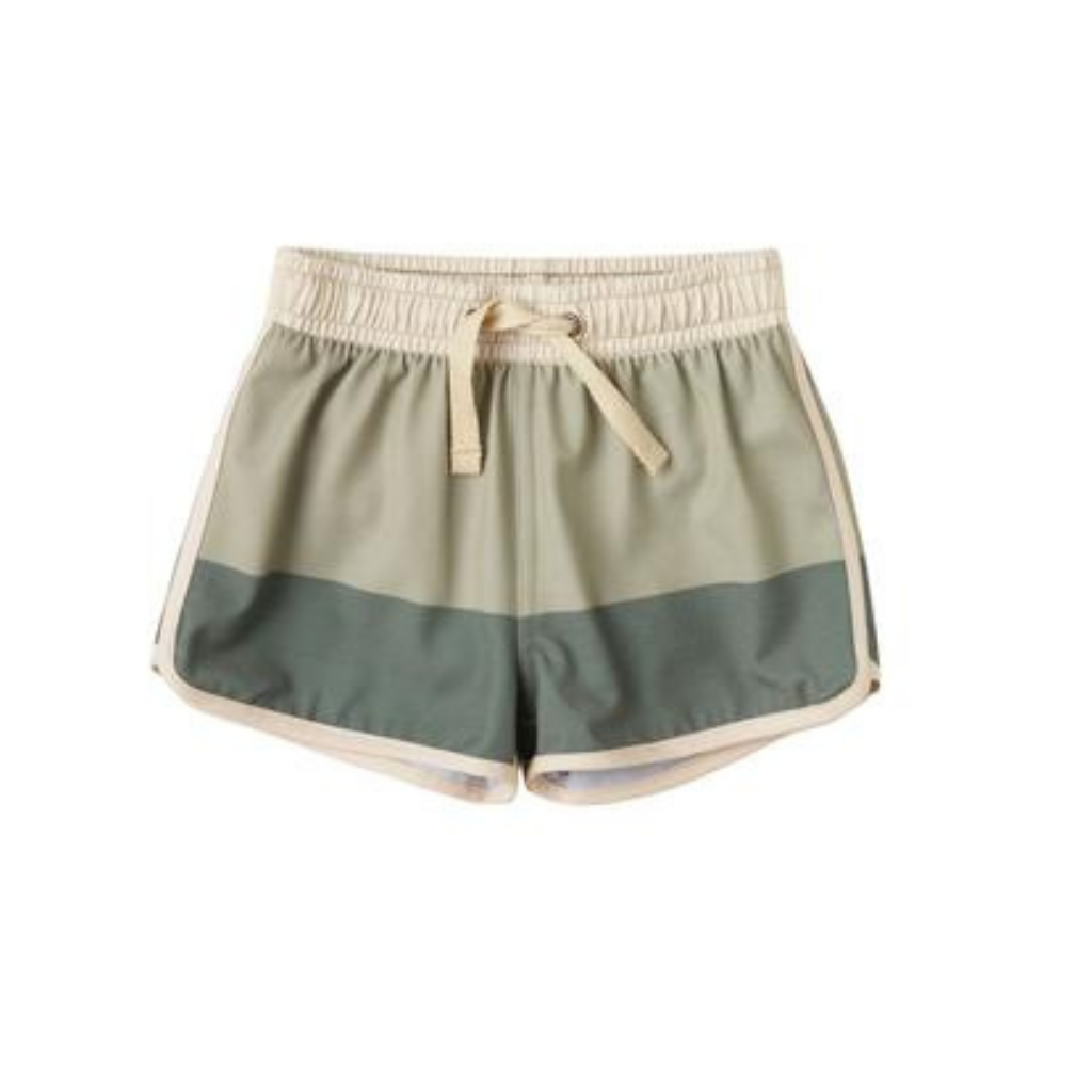 Rylee and Cru Swim Trunk in Sage Fern