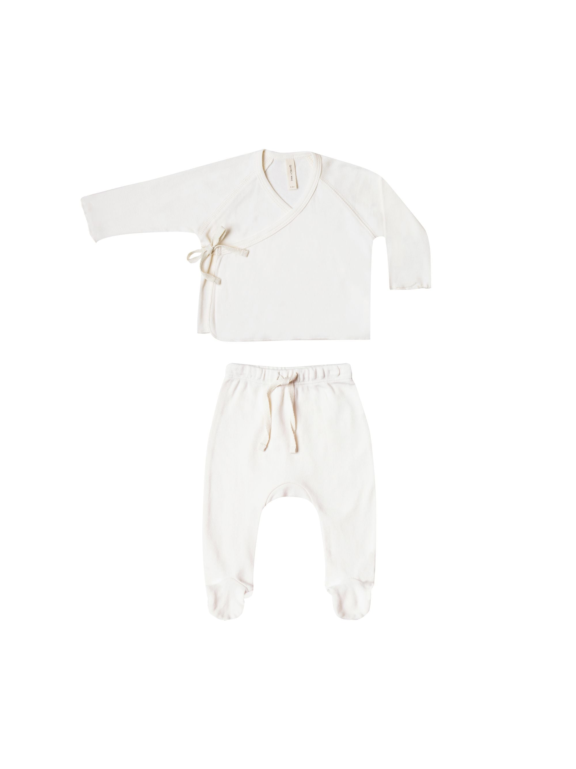 Quincy Mae Kimono Top and Footed Pant Set-Assorted
