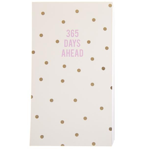 Polka Dot 365 Days Ahead Notepad