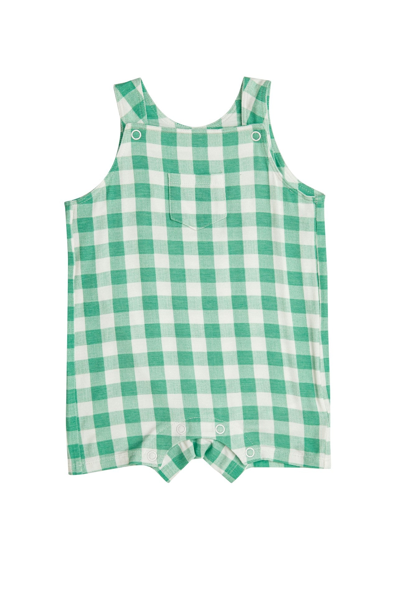 Gingham Overall Shortie  Green