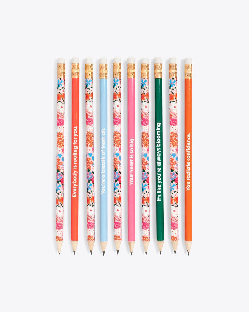 Bando Wooden Pencil Set, Secret Garden