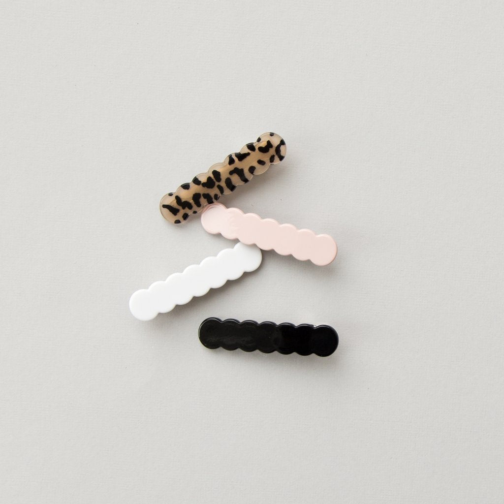 Leopard Scallop Clip Set