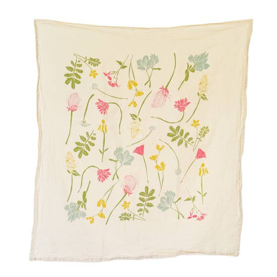 June & December Western Regions Wildflower Tea Towel