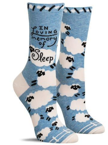Blue Q Women's Crew Socks- Memory of Sleep