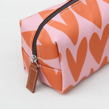 Hearts Cubed Cosmetic Bag