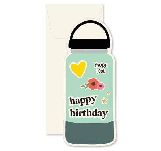 Ginger P Water Bottle Card