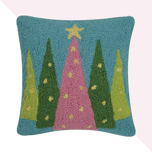 Merry and Bright Trees Hook PIllow