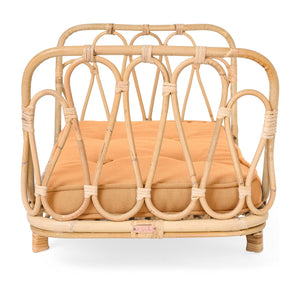 Poppie Rattan Doll Day Bed-Natural Clay
