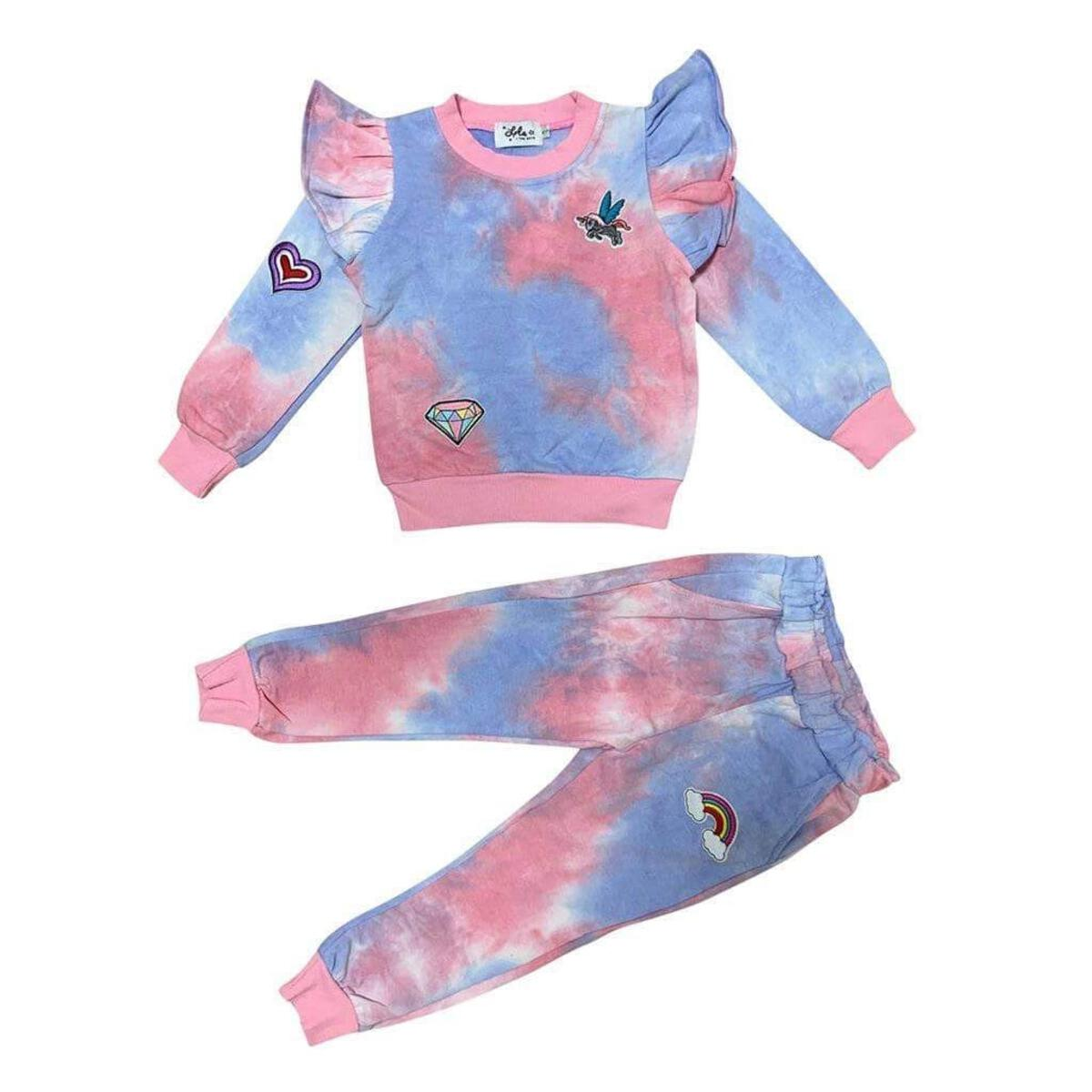 Lola and the Boys Tie Dye Ruffle Patch Set