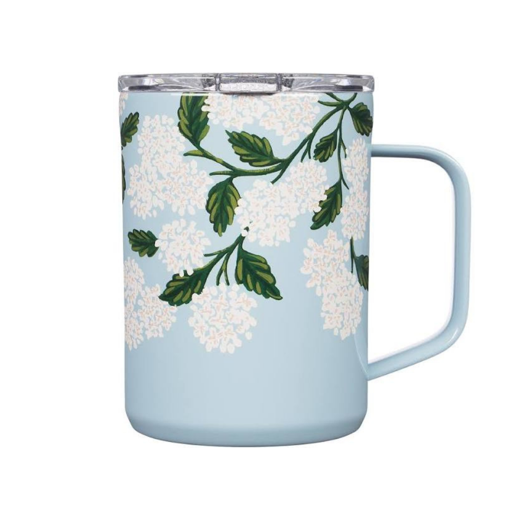 16oz Rifle Paper Blue Hydrangea  Mug