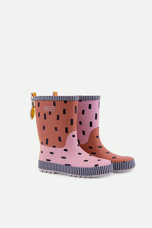 Sticky Lemon Candy Pink Faded Orange Rain Boots