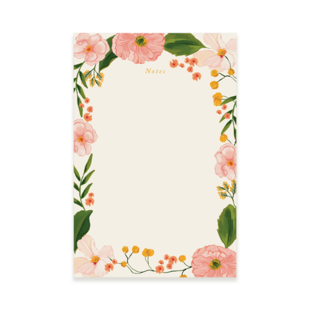 Pink Blooms Notepad