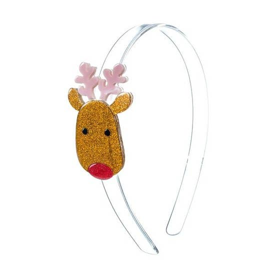 Lillies and Roses Reindeer Headband