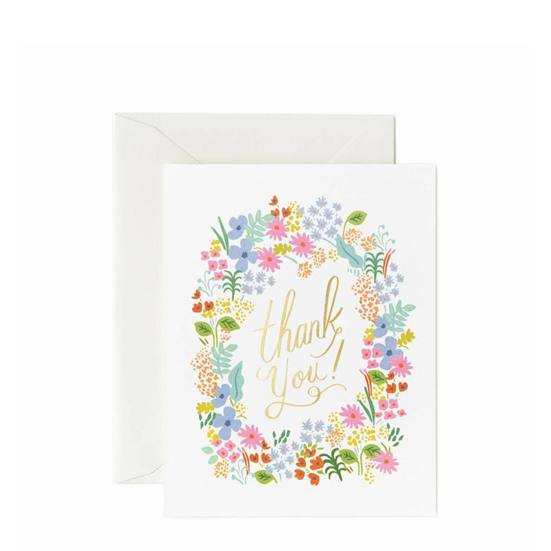 Rifle Paper Prairie Thank You Cards