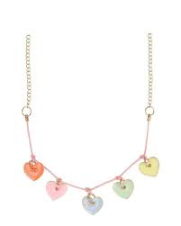 Meri Meri Enamel Hearts Necklace