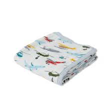 Little Unicorn Deluxe Quilt-Airplanes