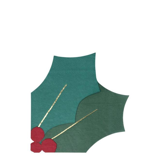 Meri Meri Holly Leaf Napkins