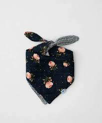 Little Unicorn Cotton Muslin Reversible Bandana Bib- Midnight Rose